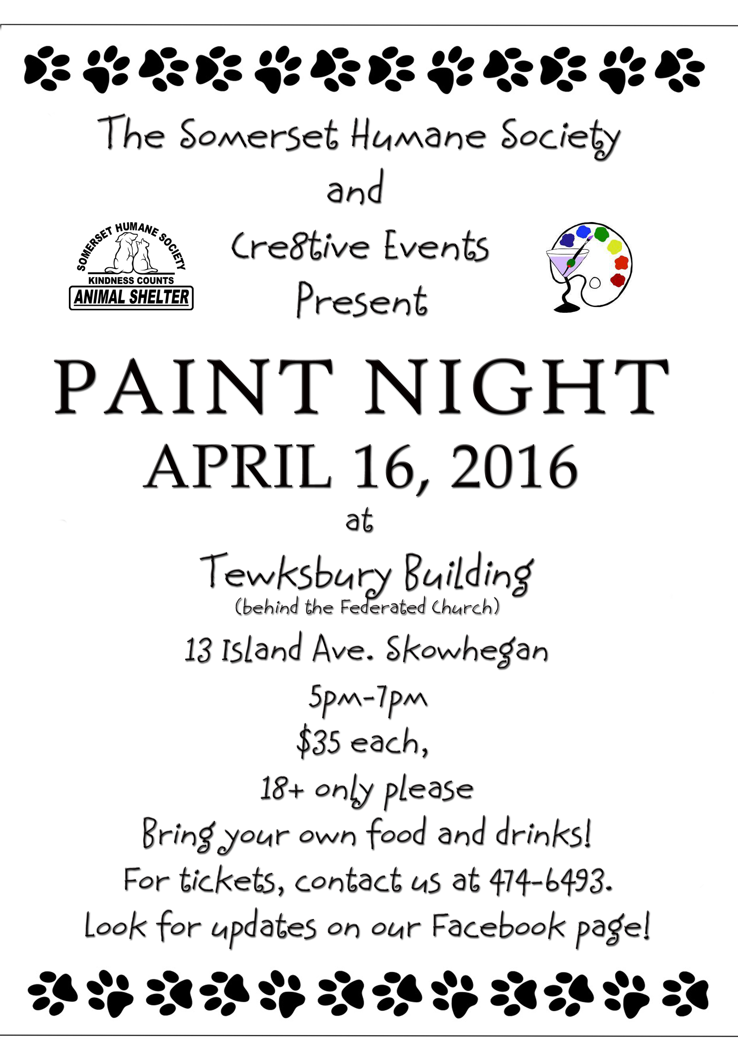 Animal Shelter Paint Night